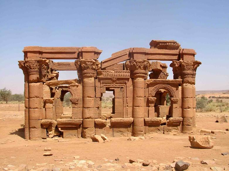 Kiosk showing Phraonic, Kushite & Greco-Roman Influences – Naga, Sudan